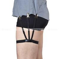 2 Pcs Shirt Suspenders Holder Elastic Men Shirt Stays Garter Belt Strap