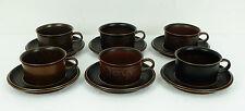 6 tazze da tè con SOTTO TAZZE Ruska Arabia Finland Ulla Procope