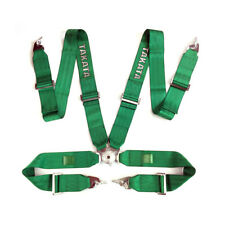 """Takata Race Seat Belt 4 Point FIA Approved Drift 3"""" ASM Snap On Harness - Green"""