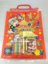 Christmas Filled Activity Party Bag Stocking Filler Party Gift With Books & Cray
