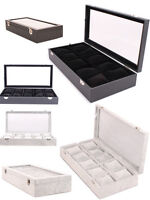 10 Grid Jewelry box with glass for bracelets and watches (Cushions included)