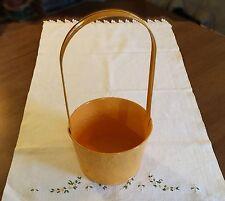 Yellow Basket Metal Decorative Gift Basket