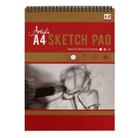 A4 Wirebound Artists Sketch Pad 50 Sheets 70gsm Drawing Art Book