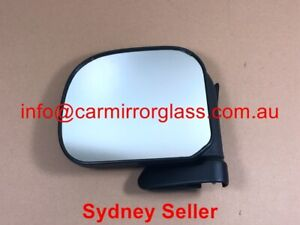 NEW DOOR MIRROR FOR TOYOTA HIACE 1989 - 1993  LEFT PASSENGER SIDE (BLACK)