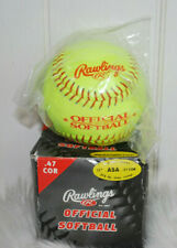 "Rawlings Official Softball Fast Pitch Series Leather Cover 11"" Asa 47 Cor Yellow"