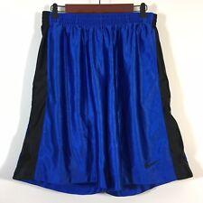 Nike Basketball Shorts Men Size Medium Blue Pull On Drawstring