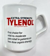 Extra Strength Tylenol Coffee Mug Cup White Red Heart Ceramic Advertisement 10oz