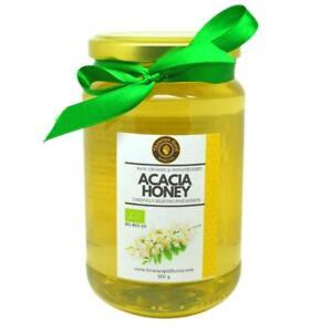 Acacia Organic Raw Honey from Bulgaria 500g Jar