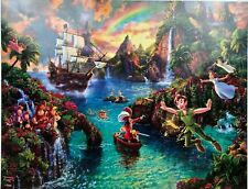 "Ceaco Thomas Kinkade Disney ""Peter Pan's Never Land"" 500pc Boxless Puzzle"