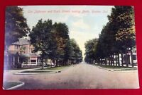 Goshen Indiana Unused  Divided Back Postcard Post Card Sixth Street  Elkhart Co