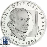 BRD 10 DM Johann Gottfried Herder 1994 Silber Stempelglanz Münze in Münzkapsel