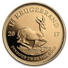 2017 South Africa 1/4 oz Proof Gold Krugerrand - SKU #114872