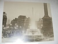 VINTAGE ORIGINAL 1950'S SEPIA PHOTOGRAPH OF PICCADILLY SQUARE AT DUSK