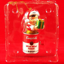 Campbell's Soup Kids 2002 Xmas Ornament Jack In The Box & Clear View Plastic Box