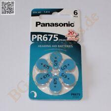 1 x PR675 Hörgeräte Batterie hearing aid battery PR44 Panasonic  1pcs