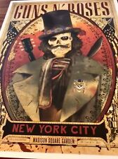 GUNS N ROSES MSG 10/16/17 SLASH POSTER 300/300 TRUE 1 of 1 RARE MUST HAVE!!!