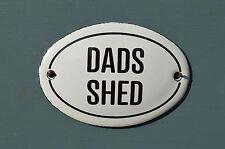Piccolo ovale smalto metal Dads TETTOIA muro porta segnale Placca Porta Firmare padre PA