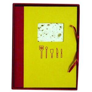 Livre de recette Masala 18x18 cm Jaune/Cannelle - Papertree