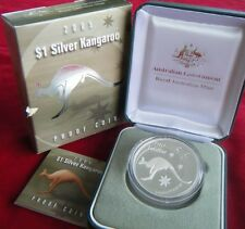 2005 Australia 1oz Silver Kangaroo Proof Coin with Box and Certificate