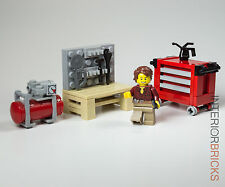 LEGO® Furniture: Full Garage Collection - Workbench, Tool Chest & Air Compressor