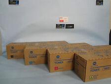 Lot of 4 Konica Minolta TN615C TN615M TN615Y TN615K Bizhub Press C8000