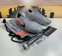 RARE Nike Tiempo Legend 8 Elite FG Soccer Cleats Grey CW0598-907 Men's Size 8