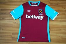 WEST HAM UNITED 2016-2017 HOME FOOTBALL SHIRT JERSEY UMBRO SIZE SMALL ADULT RARE