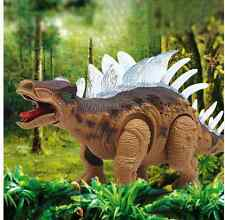 Walking Dinosaur Stegosaurus Kids Light Up Toy Figure With Sounds Real Movement