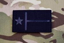 Texas State Flag Blackout Infrared Call Sign Patch IR Lone Star State TX