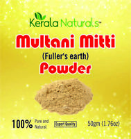Multani Mitti  ( Fuller's Earth Powder) pure Powder Free Shipping - 50gm pack