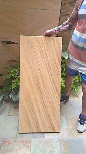 Woodgrain Sandstone slab Honed bevel edges 950x290x30mm, Strong good for caping