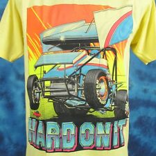 NOS vintage 80s HARD ON IT NARC SPRINT CAR RACING T-Shirt M world of outlaws 90s
