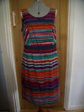 Per Una Striped Sleeveless Dresses Midi for Women