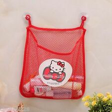 Hello Kitty Kitchen Bath Time Toy Tidy Storage Suction Cup Bag Mesh KK777