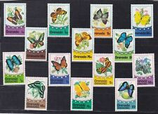 grenada & grenadines 1975 two sets,butterfly        q1408
