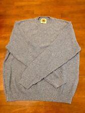 Pusser's West Indies Men's Crew Neck Sweater Blue Size Medium M
