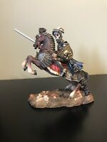 Myths And Legends Hand Painted Knigth Skeleton Statue/ Figurine By W. U. 1996