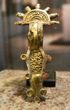 Ostgermanische BÜGELFIBEL - Bronze, versilbert/vergoldet, mit Email. 6. Jhr. !!!
