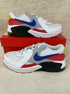 Nike Air Max Excee PS White Blue Red Preschool Kids  Shoes CD6892-101 Size 1Y
