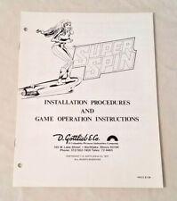 Gottlieb Super Spin Pinball Machine Original Manual Nos! Free Shipping! New!