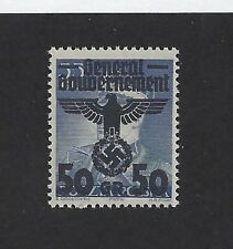 Mint Nazi Swastika / Poland Occupation / 50 Gr 1940 Issue / MNH stamp w/ holder
