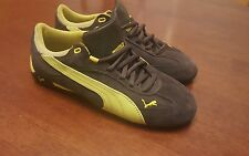 Puma Womens Fast Cat Grey/ Green Suede Size 8.5
