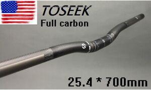 Carbon Handlebar 3K MTB Road XC Mountain Bike Long Bicycle Riser bar 25.4*700mm