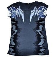 Women's PUMA x Alexander McQueen Print Tee T-Shirt Dark Shadow size S $65