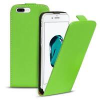 Flip Case Apple iPhone 7 Plus Hülle Pu Leder Klapphülle Handy Tasche Cover Grün