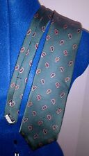 Robert Talbott Tie 60L x 3.5W Green Paisley Designed for The Fairfield Store VGC