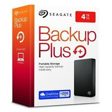 SEAGATE 4 TB Back-Up Plus Portátil Externo USB 3.0 disco duro PC/MAC-totalmente Nuevo