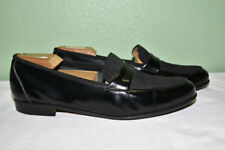 Salvatore Ferragamo Leather Fabric Loafer Men's 8.5 D