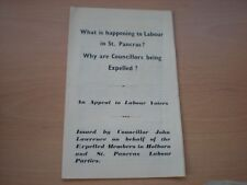 What Is happening To Labour In St.Pancras ? -4 paged Vintage Brochure