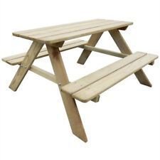 Kids Picnic Table Outdoor Garden Patio Wooden Bench Childrens Furniture Benches
